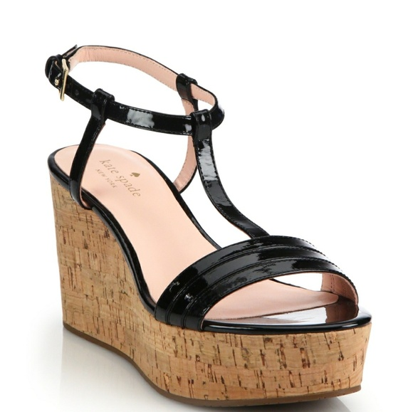 Kate Spade New York Leather Cork Wedge Sandals 2014 newest for sale 4bfNm2WKu
